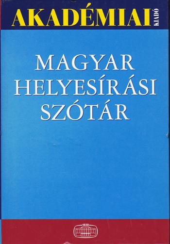 Magyar helyesírás szótár