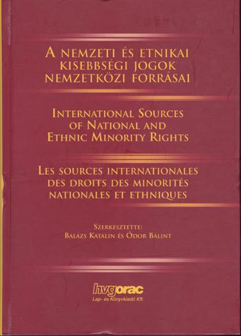 A nemzeti és etnikai kisebbségi jogok nemzetközi foorásai